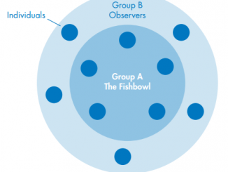 Fishbowl discussion graphic