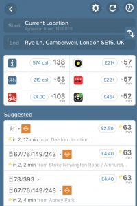 Citymapper screen capture