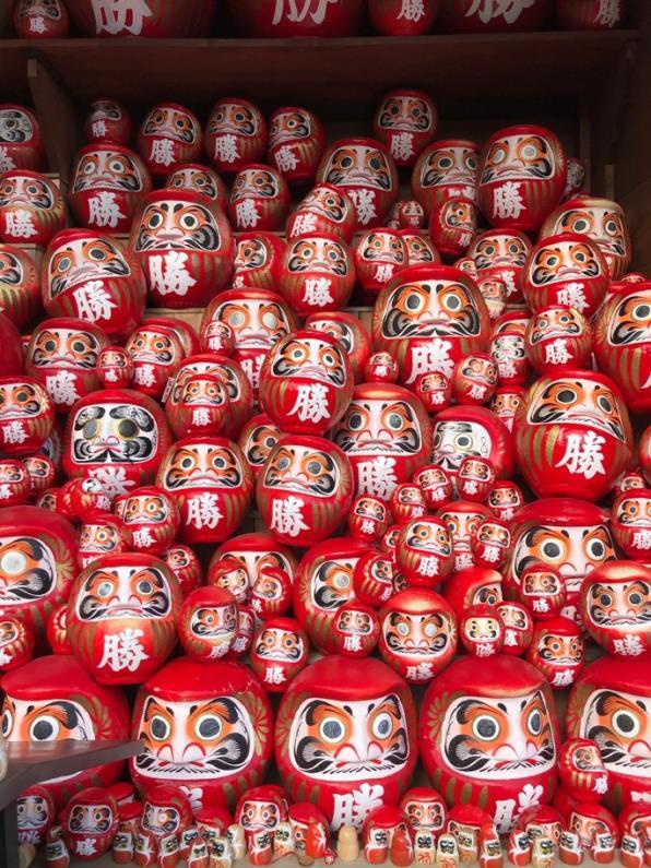 Daruma dolls in Katsuouji temple - Osaka