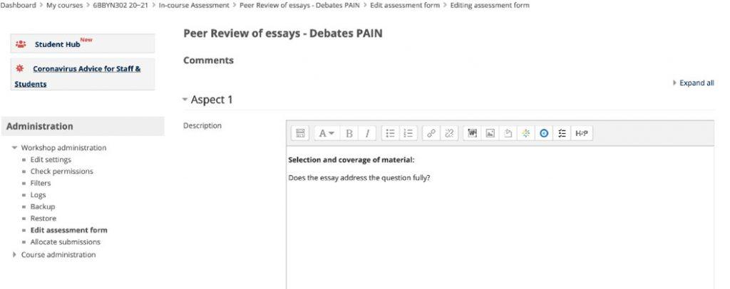 Peer Review of Essays 1