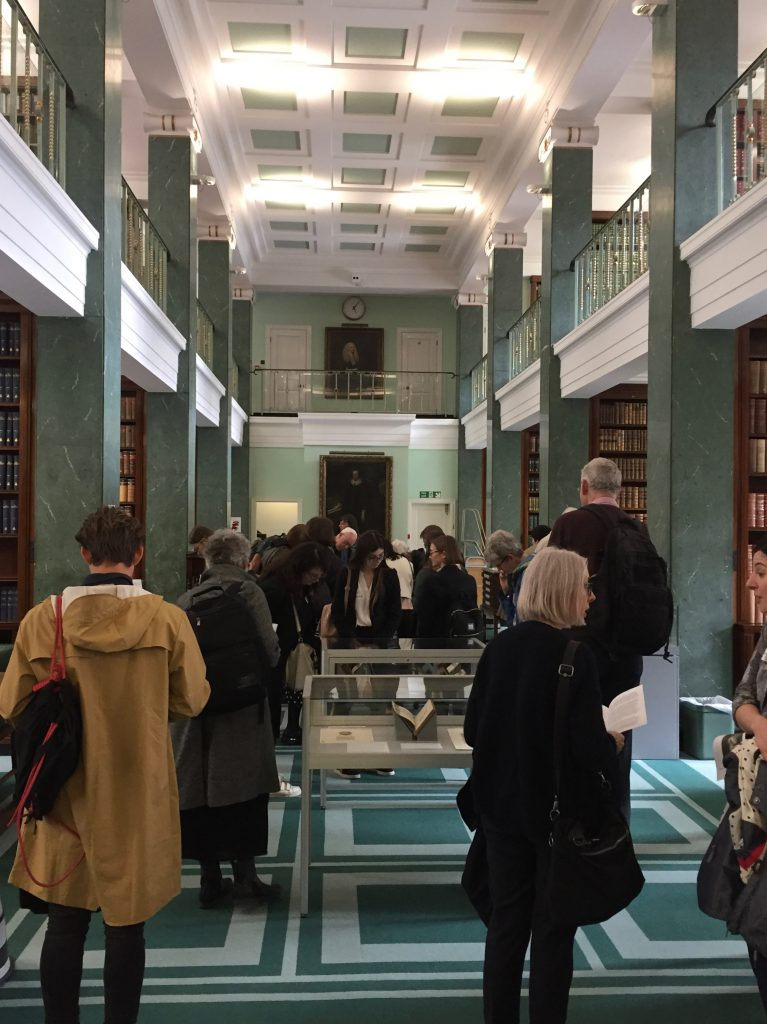 Delegates view the exhibition at Middle Temple Library