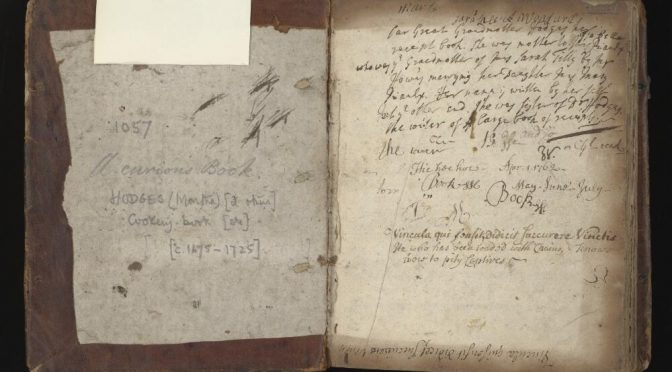 The heterogeneous nature of manuscript recipe books in early modern England