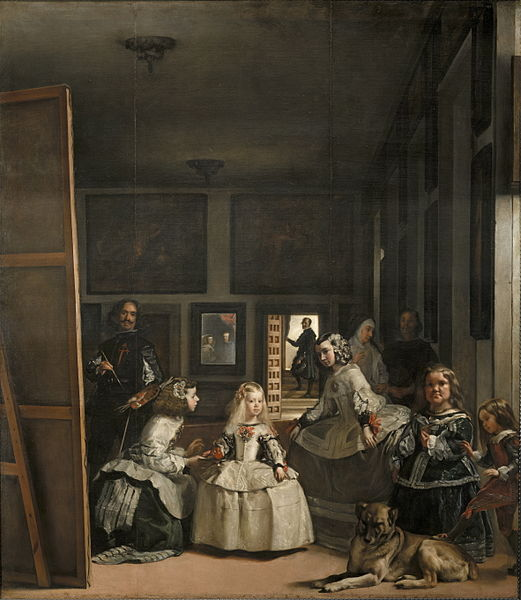 Las Meninas, by Diego Velázquez, 1656–57. via wikimedia commons.