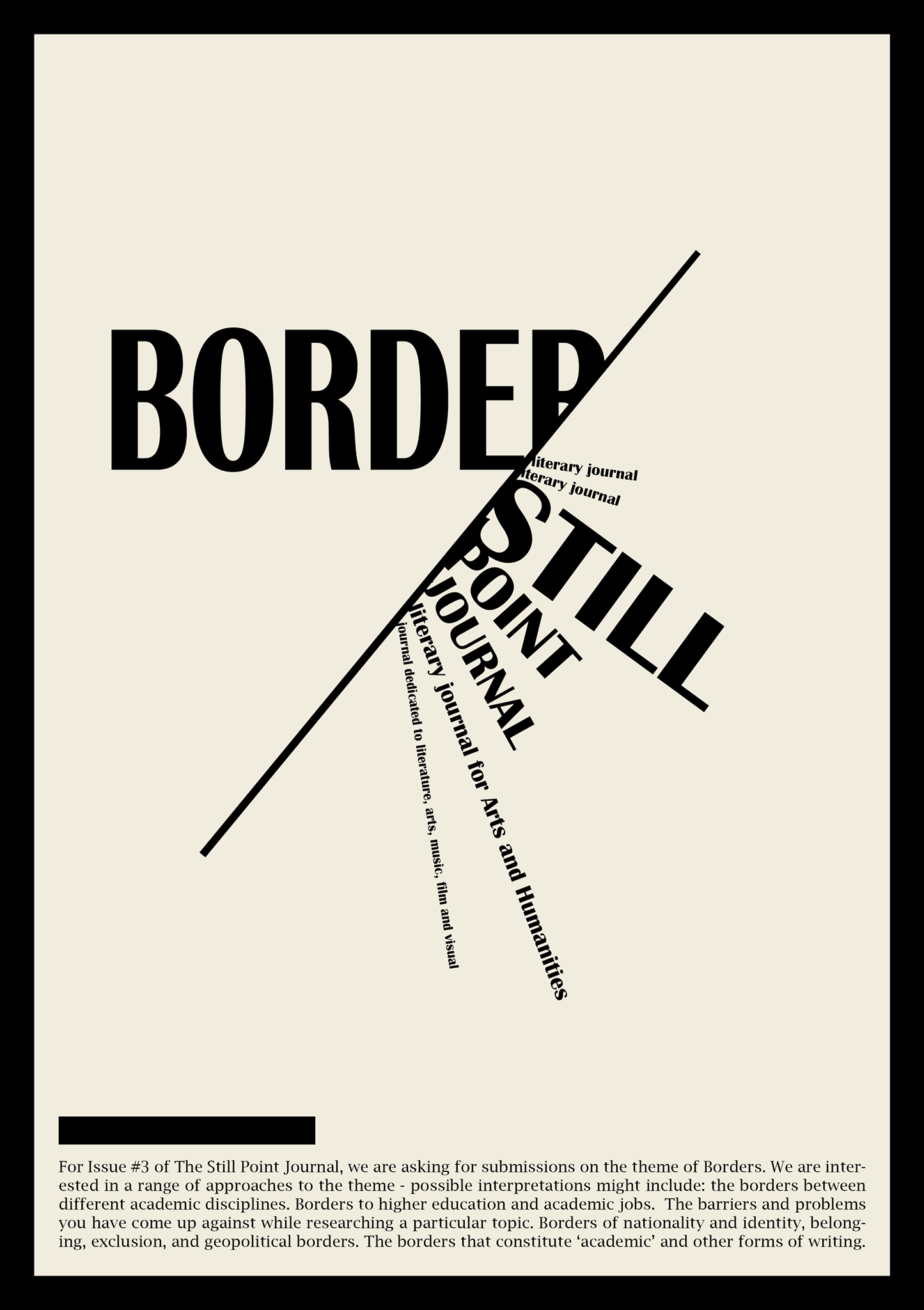The Still Point Journal Issue 3 call for submissions.