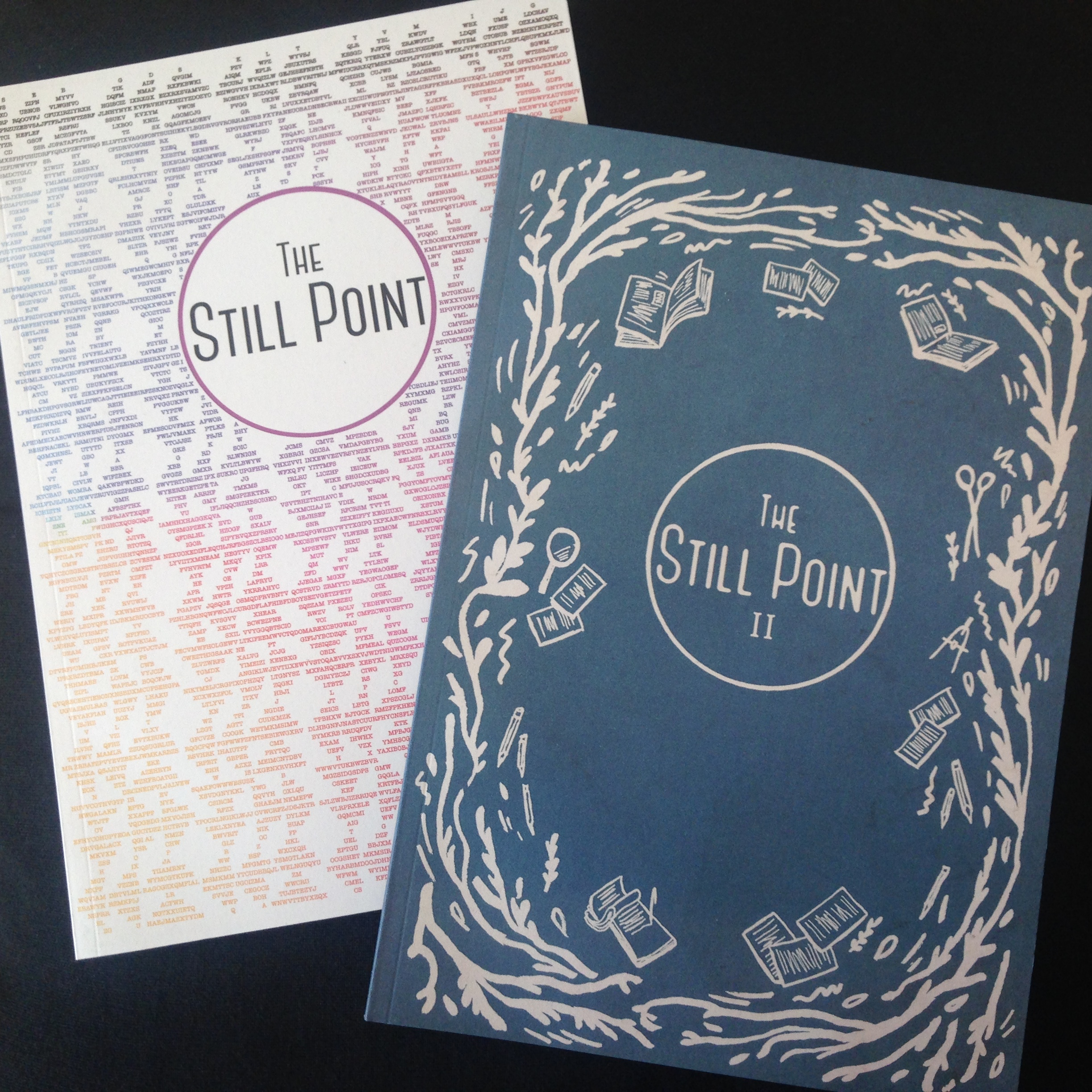The Still Point Journal print issues. Find them in the Saison Poetry Library, British Library, and London literary events. You can also order your own copy, see The Still Point website.