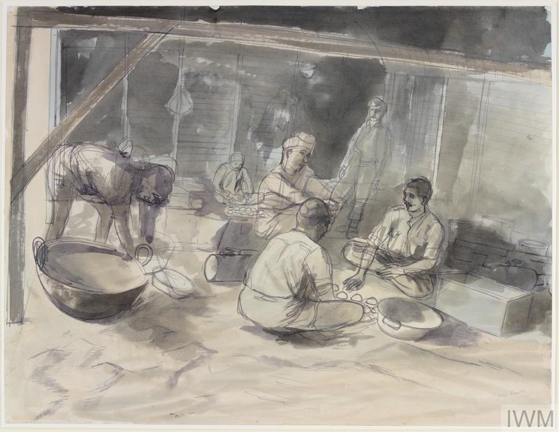© IWM (Art.IWM ART LD 2220) A 'Hindoo' kitchen in Syria by Edward Bawden