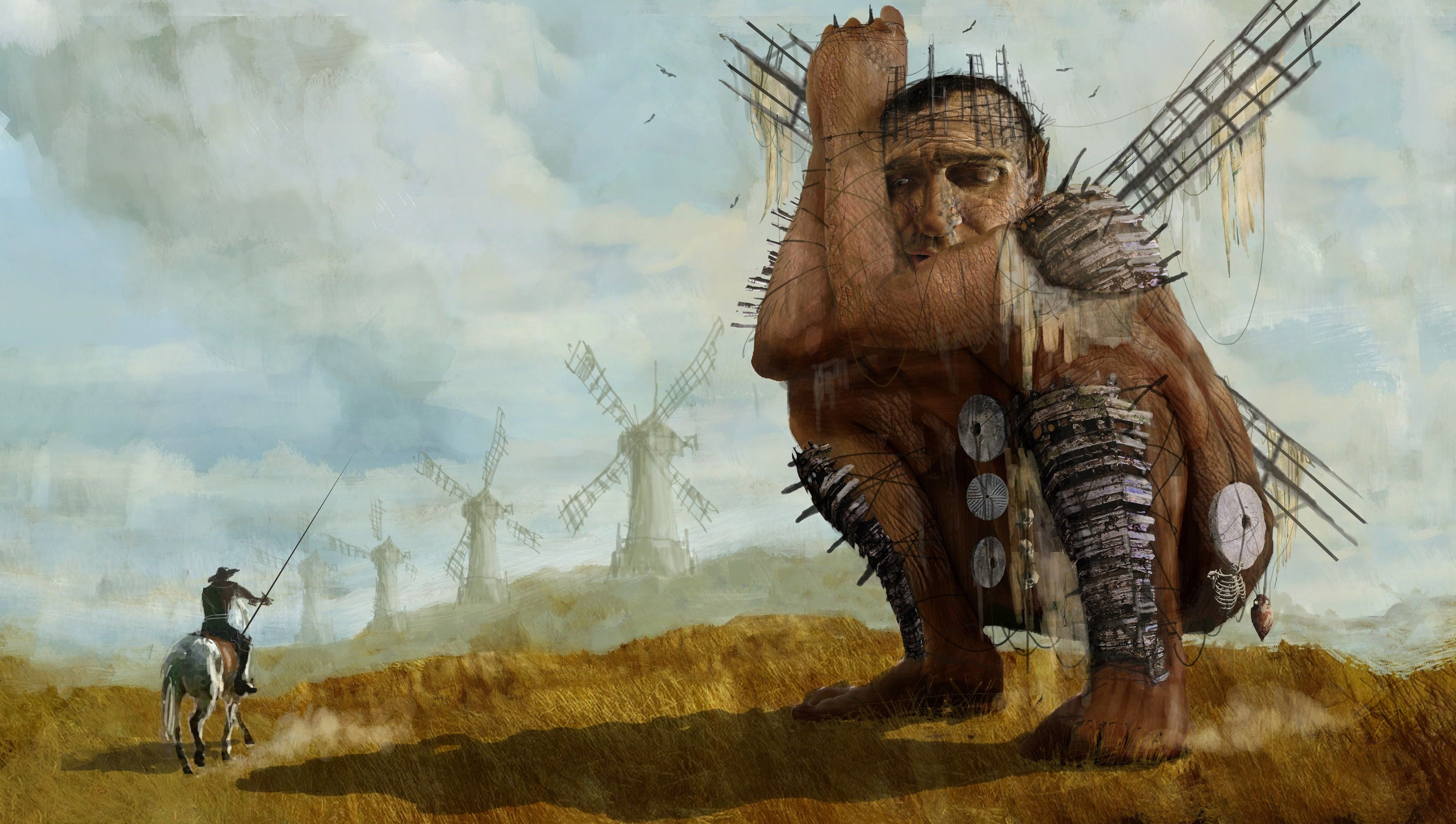 Don Quixote tilting at windmills, Terry Gilliam