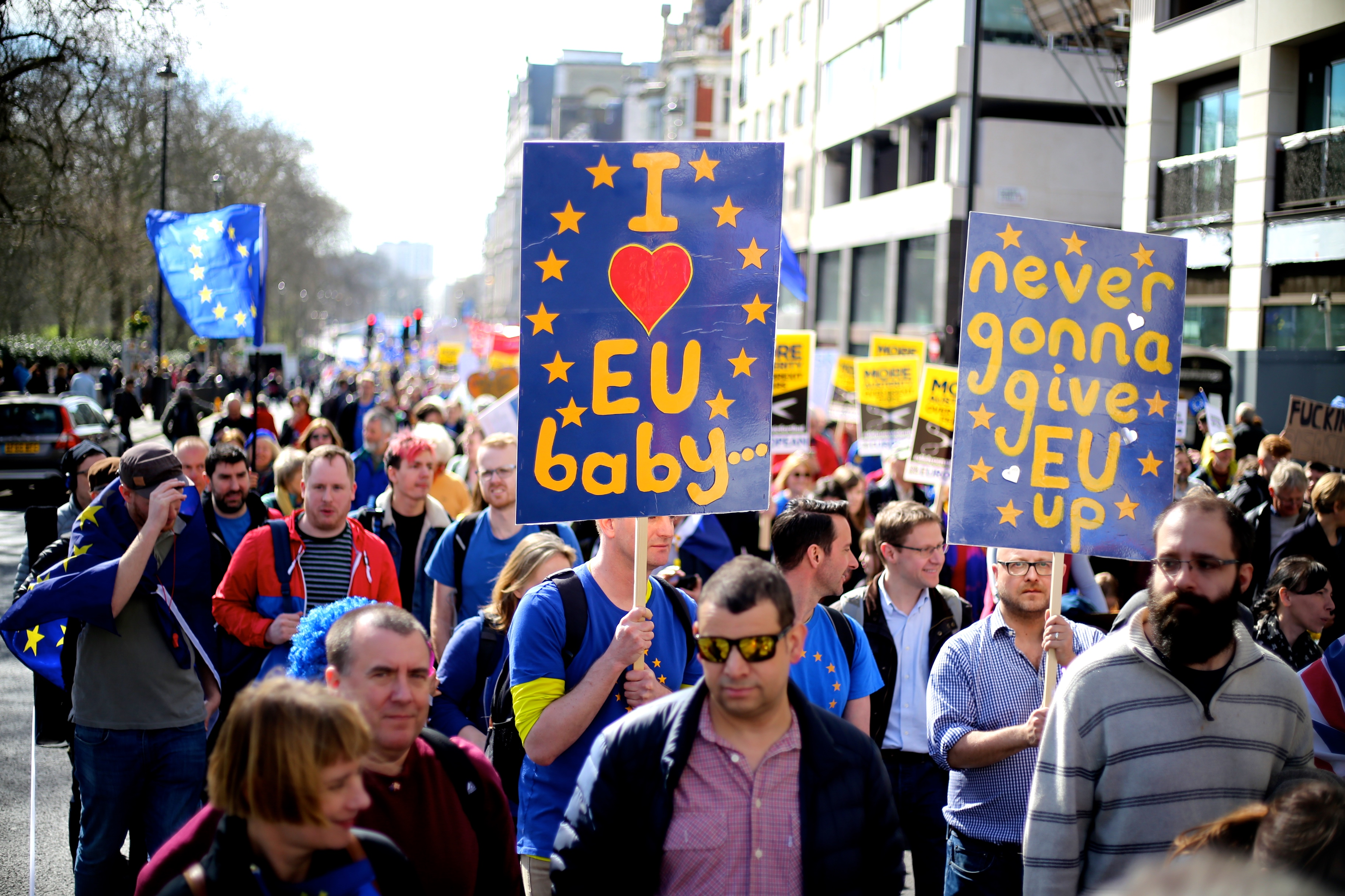 At a protest march against Brexit in London. Photo © Wikimedia Commons