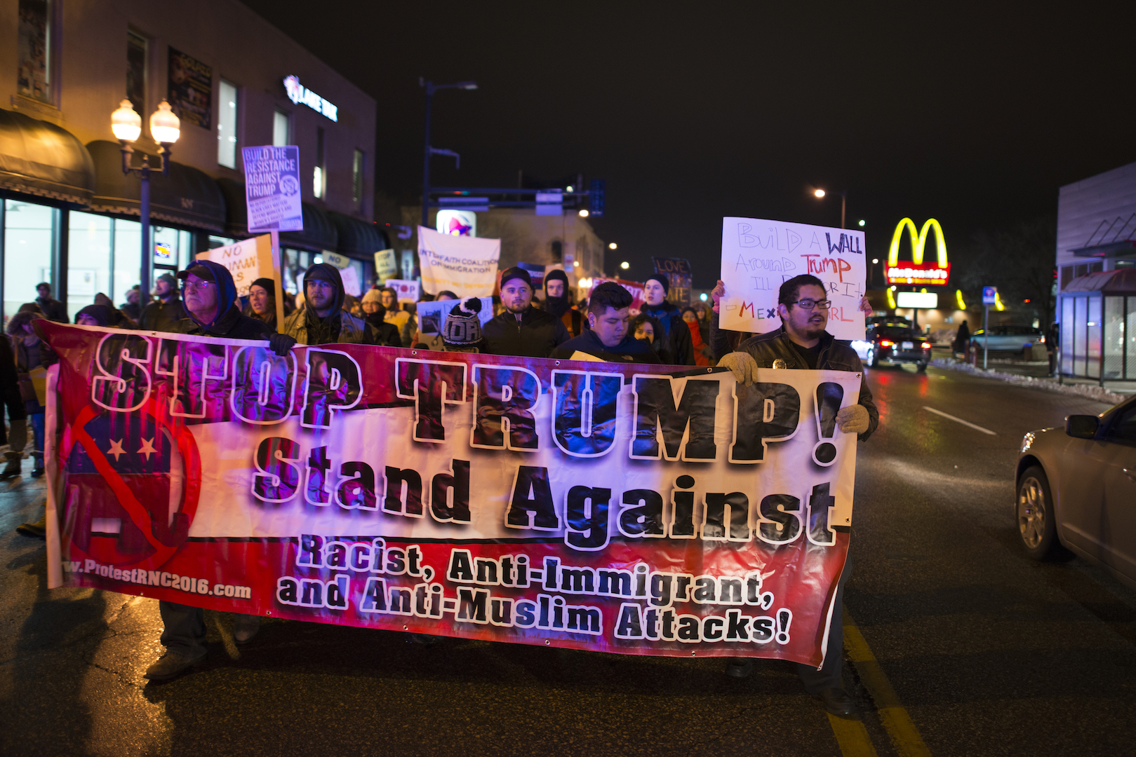 At a protest against Trump's presidency. Photo © Wikimedia Commons.