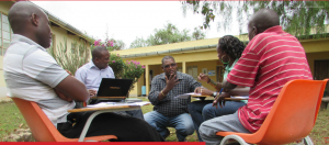 Some of the LPRR Kenya team in discussion