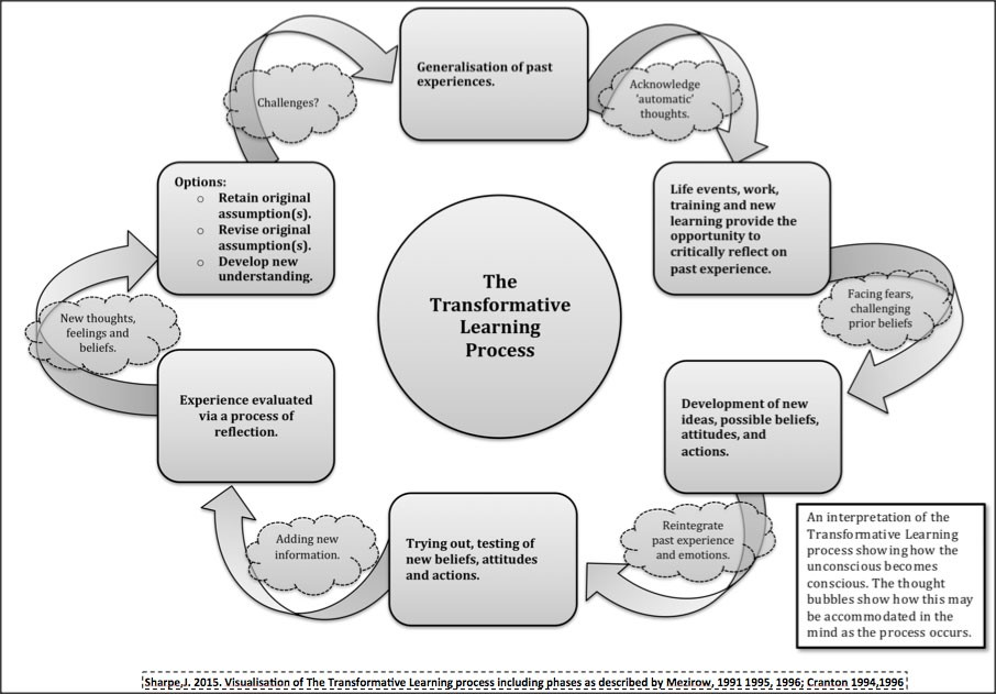 Visualization of the Transformative Learning Process