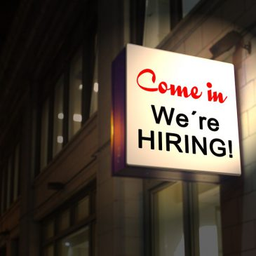 Image of a hiring sign