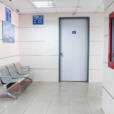 Image of an empty hospital waiting room