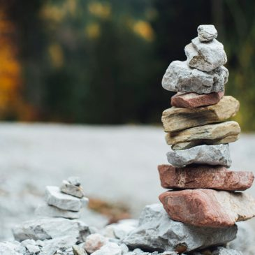 A calmly stacked pile of rocks