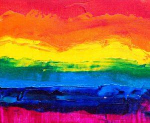 image of a pride rainbow