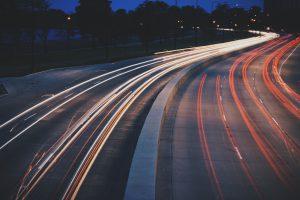 image of car road at night