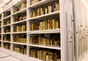 Image of archives storeroom