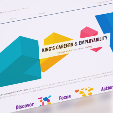 Image of King's Careers Keats page - click to read blog