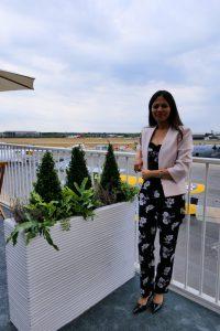 Image of girl overlooking airport