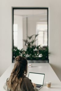 Image of girl and laptop