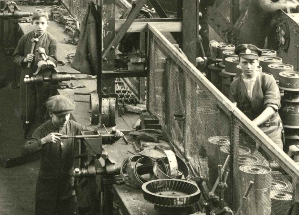 Crop of Interior of a Tank Factory