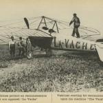 """b/w postcard: heavily retouched photo captioned 'Védrines partant en reconnaissance sur son appareil  """"La Vache""""/ Védrines starting for reconnoitring upon his machine """"The Vack"""""""