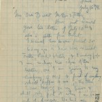 Letter from Captain Basil Liddell Hart to his mother and father, written in a break in fighting during the Battle of the Somme, 15 July 1916. Page 1 of 8