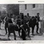 L'Album de la Guerre (Paris, 1926), p.3. Gavrilo Princip being taken into custody