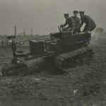 Photograph captioned 'Killen-Strait tractor', from the papers of Lt Col Sir Albert Gerald Stern