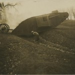 Photograph captioned 'Mother' (nickname for the Mark I tank), from the papers of Lt Col Sir Albert Gerald Stern