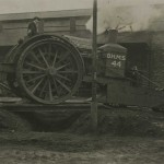 Photograph captioned 'Tritton's Trench Crossing Machine', from the papers of Lt Col Sir Albert Gerald Stern