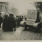 Photograph captioned 'German dummy tank in Lille', from the papers of Lt Col Sir Albert Gerald Stern