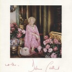 Christmas card from Barbara Cartland to Sir Arthur Bryant, 1977 (Bryant E12)