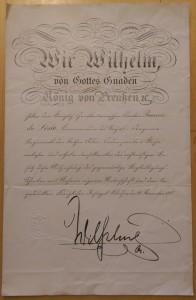 Kaiser Wilhelm signature, 1907