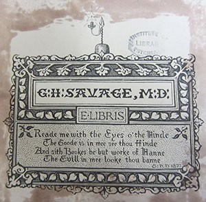 GH Savage bookplate
