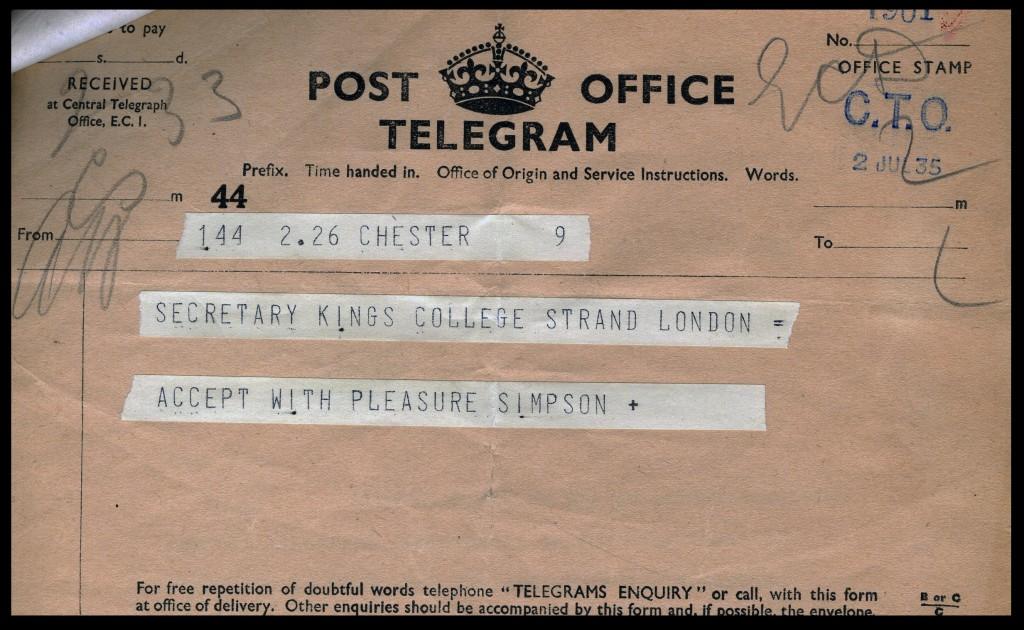 KA FPA 1939 Telegram