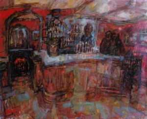 [Interior: Bar], Oil, c. 1958