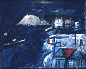 "Blue Seascape, Oil on canvas 40"" x 50"", 1968"