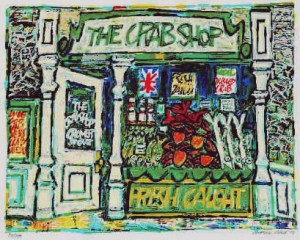 The Crab Shop, 15.75 x 20.25 Edition of 100, 1989, £500