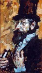 'The Dublin Rabbi', c. 1958. Portrait of Cohen's friend, the painter Reggie Weston