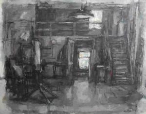 "Gordon Place, oil on canvas, 28"" x 36"", 1963"