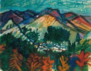 "Lefkara -- Cyprus, oil on canvas, 25"" x 30"", 1990"