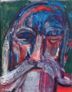 """Noah, gouache, 12"""" x 10"""", 1964"""