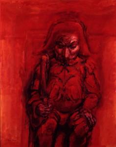 """Polichinelle Rex, oil on canvas, 40"""" x 32"""", 1963"""