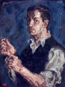Self Portrait, oil, c. 1956. Ein Harod Museum, Israel