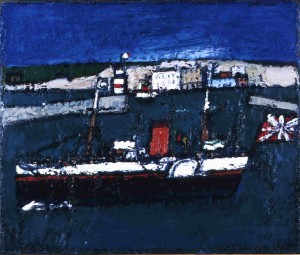 """The Last Excustion, Oil on board, 20"""" x 24"""", 1968"""