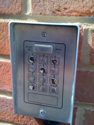 [image of code keypad]