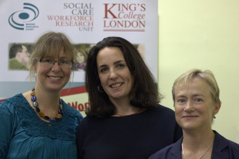 Vanessa Pinfold, Sarah Carr and Alison Faulkner at the event