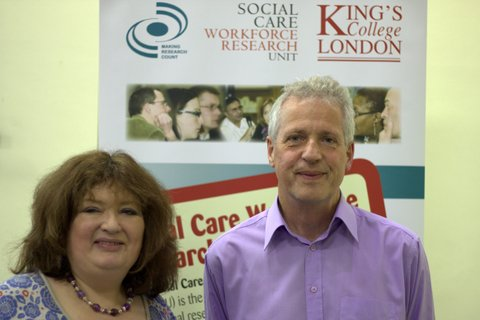 Jo Moriarty (Chair of the event) with Jerry Tew