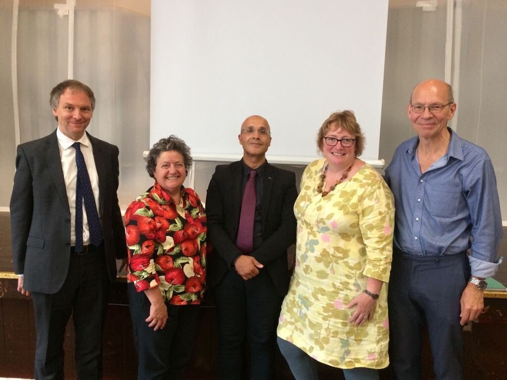 Matthew Lees, Lyn Romeo, Emad Lilo, Claire Barcham, and Steve Chamberlain at the AMHP Network Leads Conference, 10 July 2017